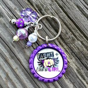 Crohn's Disease Awareness Key Chain