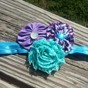 Blue Peacock Shabby Flower Stretch ..