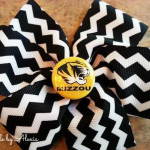 Missouri Mizzou Hair Bow