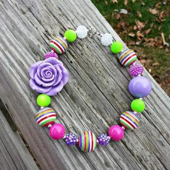 Valentine's Day Chunky Beaded Girl's Necklace