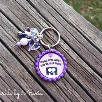 Crohn's Disease/IBD/Ulceritive Colitis Awareness Key Chain