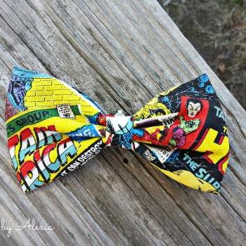 Comic Strip Boy's Fabric Bow Tie